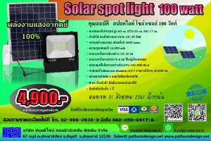 SPOT LIGHT SOLAR CELL 100W